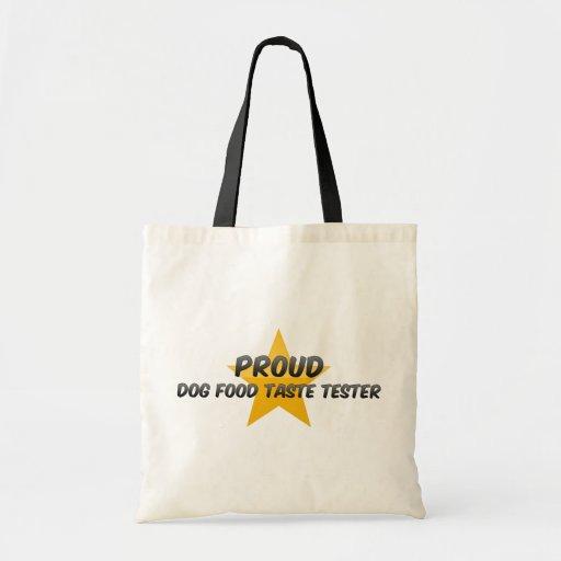 Essayeur fier de goût d'aliments pour chiens sacs