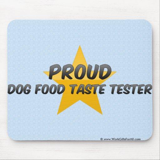 Essayeur fier de goût d'aliments pour chiens tapis de souris