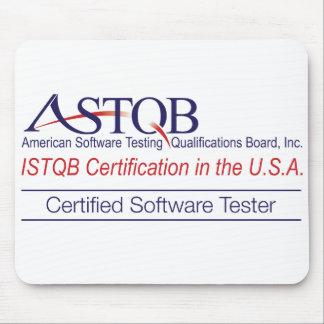 Essayeur Mousepad de logiciel certifié par ASTQB Tapis De Souris
