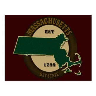 Est 1788 du Massachusetts Carte Postale