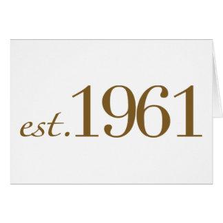 Est 1961 (année de naissance) carte de vœux