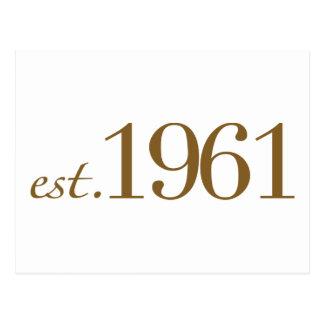 Est 1961 (année de naissance) cartes postales