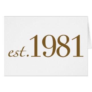 Est 1981 année de naissance cartes