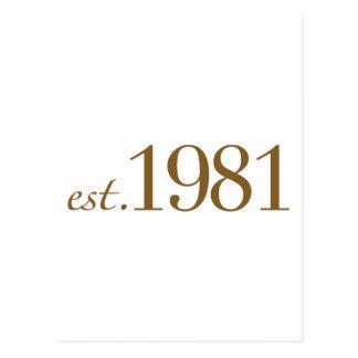 Est 1981 (année de naissance) cartes postales