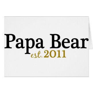 Est 2011 d'ours de papa carte de vœux