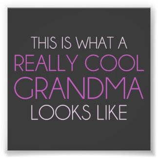 Est c'à ce qu'une grand-maman vraiment fraîche photographie d'art