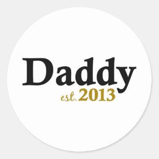 Est classique 2013 de papa sticker rond