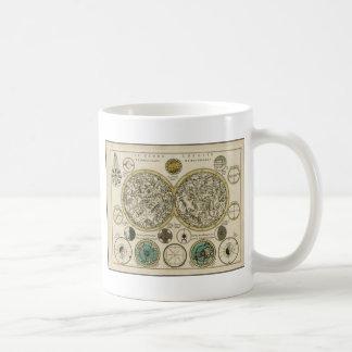 Est de carte du monde et occidental antiques mug