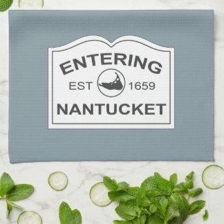 Est entrant de Nantucket. 1659 signez dedans le bl Serviettes Pour Les Mains