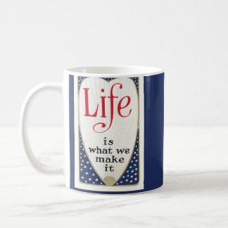 Est la vie ce que nous lui faisons mug