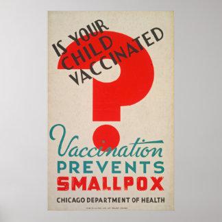 Est votre poster vintage vacciné par enfant