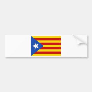 Estelada, independentista de Catalunya de bandera Autocollant Pour Voiture