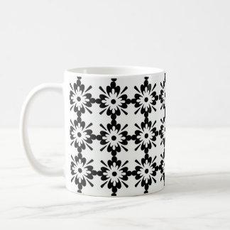 estrela de tipo de preta d'imagem de Flor Mug Blanc
