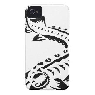 Esturgeon tribal - beluga de Huso Coque iPhone 4 Case-Mate
