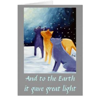 Et à la terre il a donné la grande lumière cartes de vœux