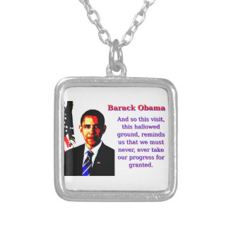 Et ainsi cette visite - Barack Obama Pendentif Carré