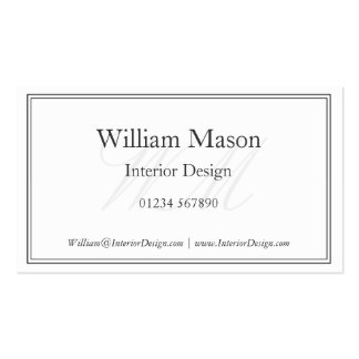 Et blanc carte de visite encadré par monogramme