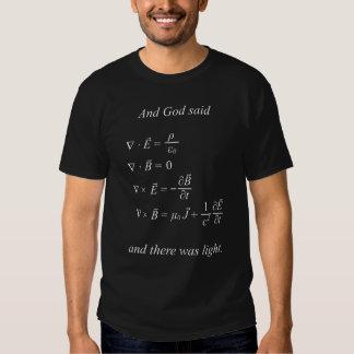Et Dieu a dit [les équations du maxwell] T-shirt