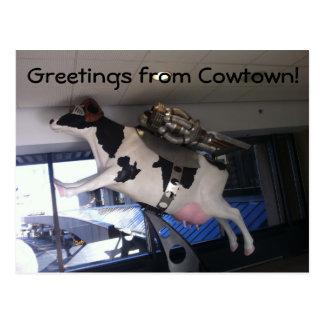 Et la vache sautée au-dessus de la lune carte postale
