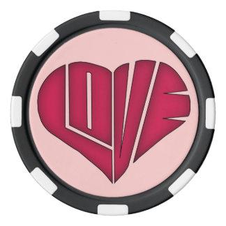 Et noir jeton de poker de couples personnalisé par rouleau de jetons de poker