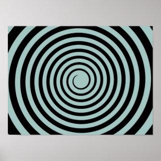Et noire de crépuscule modèle customisé par spiral affiche