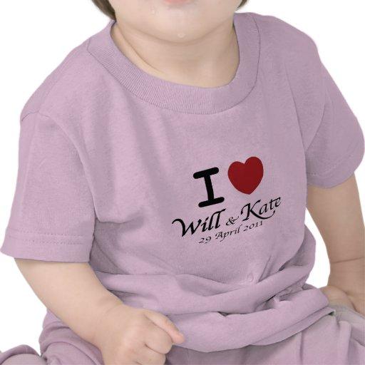 Et T-shirt royal de nourrisson de mariage de Kate