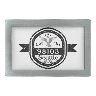 Établi dans 98103 Seattle Boucle De Ceinture Rectangulaire