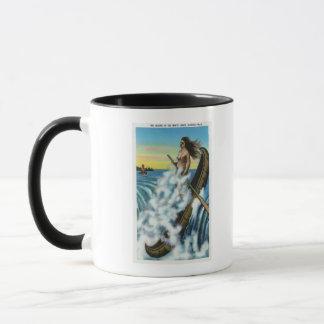 Établissement de la légende du canoë blanc mugs