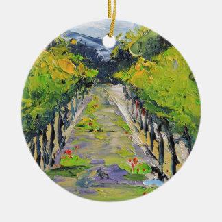 Établissement vinicole de la Californie, vignes de Ornement Rond En Céramique