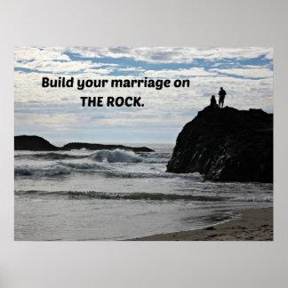 Établissez votre mariage sur la roche affiche
