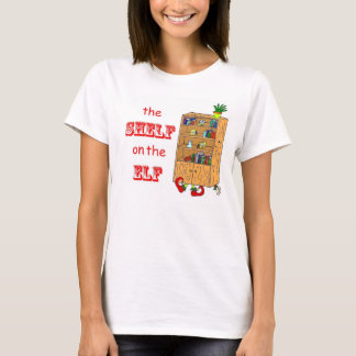 Étagère sur le T-shirt drôle de vacances d'Elf