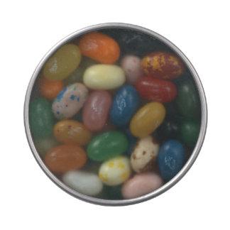 Étain clair personnalisé de sucrerie de couvercle boite jelly belly