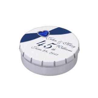 Étain de sucrerie d'anniversaire de mariage de boite à bonbons