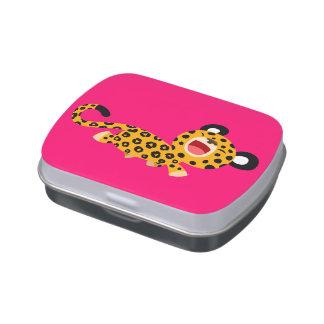 Étain plaisant de sucrerie de léopard de bande des boite à bonbons