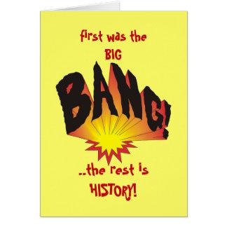 Était la première fois Big Bang… Cartes