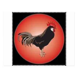 Étalage de coq carte postale