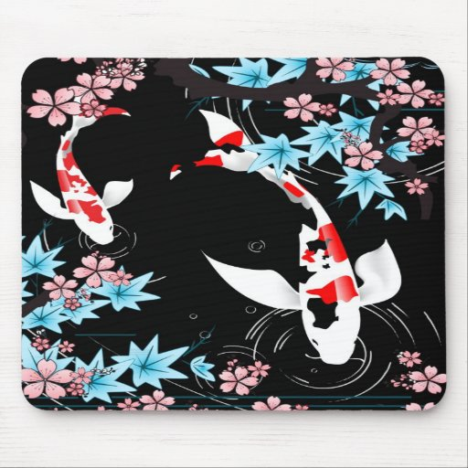 Étang de Koi - ressort - conception Mousepad de Ja Tapis De Souris