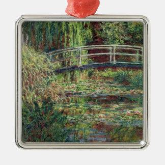 Étang de nénuphar de Claude Monet | : Harmony Ornement Carré Argenté