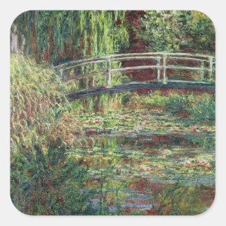 Étang de nénuphar de Claude Monet   : Harmony Sticker Carré