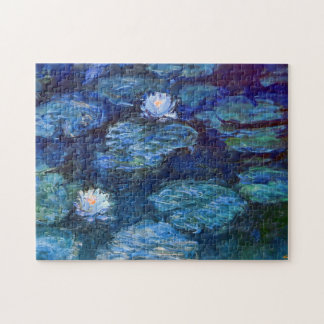 Étang de nénuphar en beaux-arts bleus de Claude Puzzle