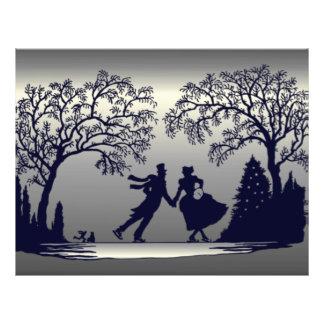 Étang de patinage de glace - silhouette prospectus 21,6 cm x 24,94 cm