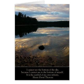 """Étang de Walden carte de """"mon propre infini"""""""