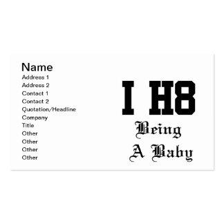 étant un bébé carte de visite standard