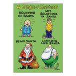 Étapes de carte de vacances d'humour de Noël