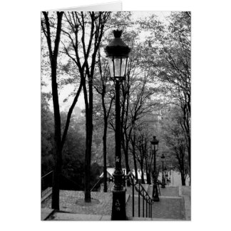 Étapes de Montmartre Carte De Vœux
