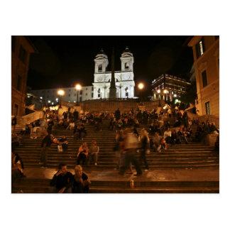 Étapes espagnoles par nuit cartes postales