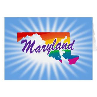 État d'arc-en-ciel du Maryland Carte De Vœux