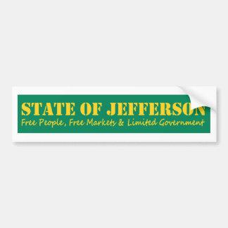 État d'autocollant de bumber de Jefferson Autocollant De Voiture