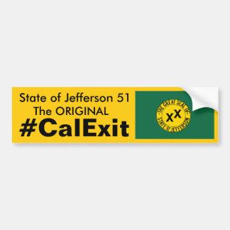 État de CALEXIT de Jefferson 51 Autocollant De Voiture