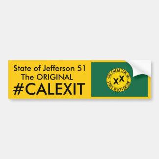 État de CALEXIT de Jefferson 51 Autocollant Pour Voiture